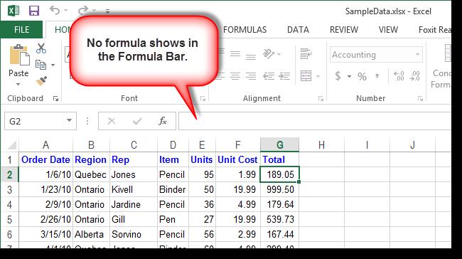 как сделать чтобы не отражались формулы в excel