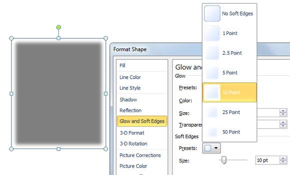 как сделать цветную тень в powerpoint