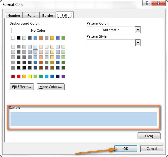 как сделать цветные строки в excel