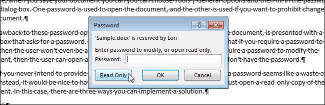 как сделать файл только для чтения word