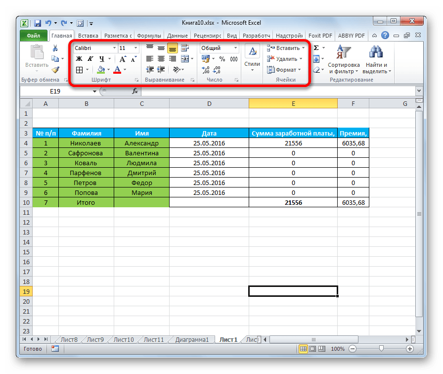 как сделать форматирование ячеек в excel