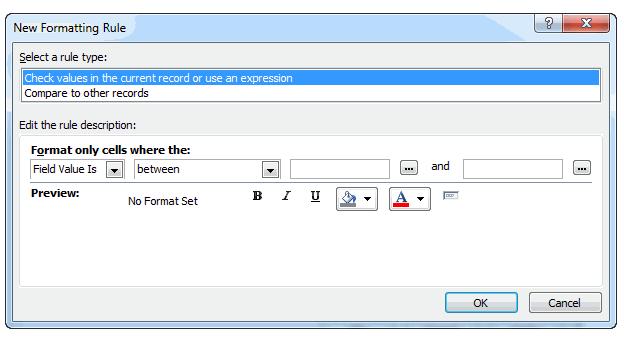 как сделать форму в окне в access