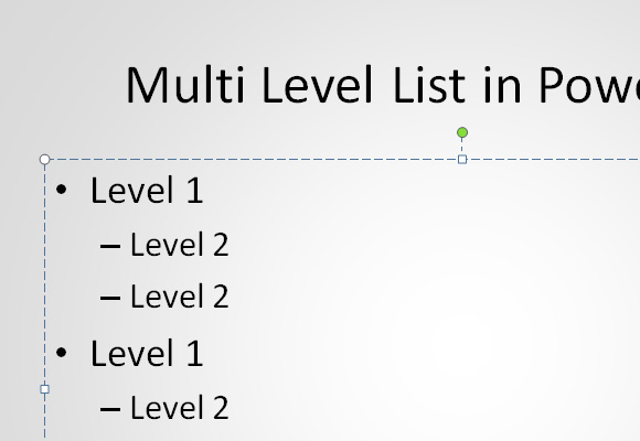 как сделать красивый список в powerpoint