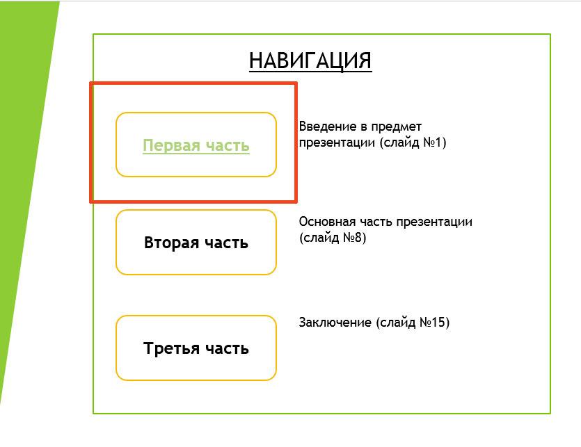 как сделать нелинейную презентацию в powerpoint