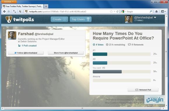 как сделать опрос в powerpoint