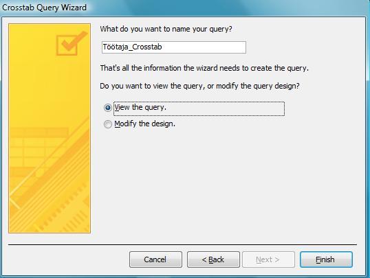 как сделать перекрестный запрос в access 2010