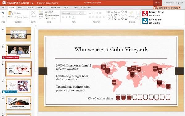 как сделать презентацию в powerpoint online