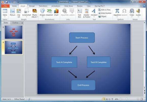 как сделать схему в microsoft powerpoint