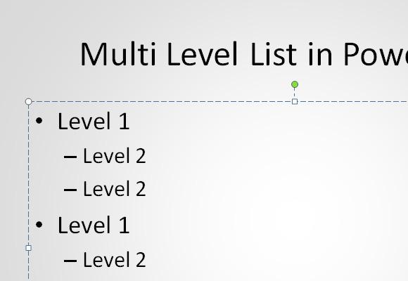 как сделать список в презентации powerpoint