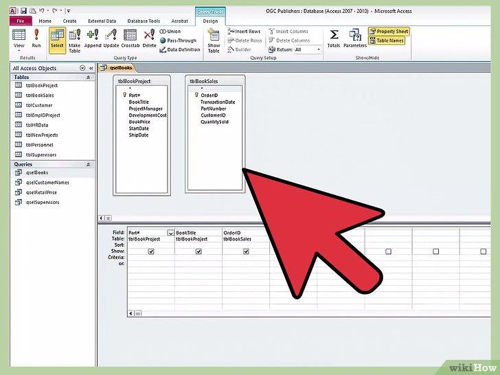 как сделать связи между таблицами в access 2010