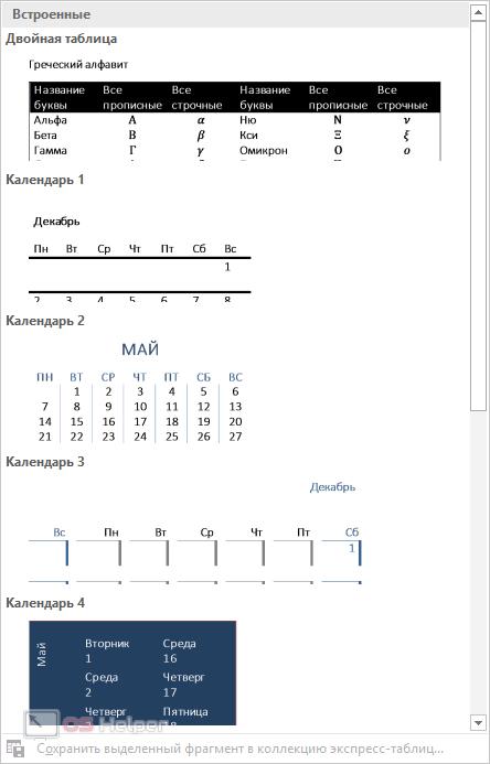 как сделать таблицу менделеева в word