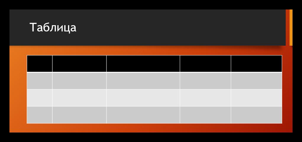 как сделать таблицу со стрелками в powerpoint