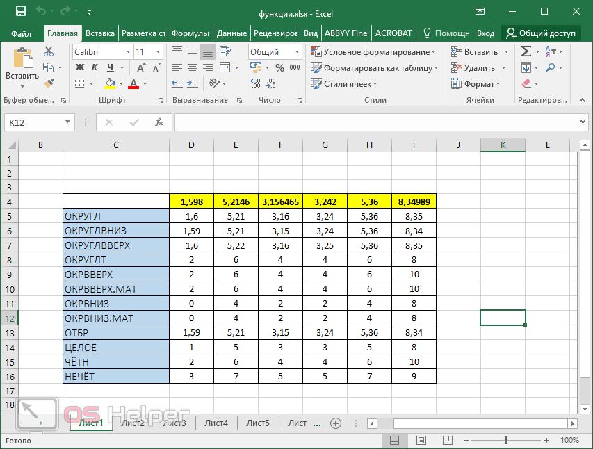 как сделать таблицу в word с цифрами