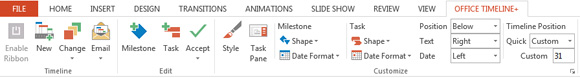 как сделать таймлайн в powerpoint