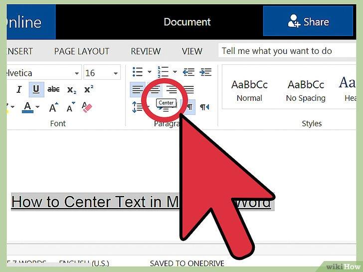 как сделать текст по центру ячейки в word