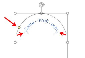 как сделать текст по кругу или волной в word 2010