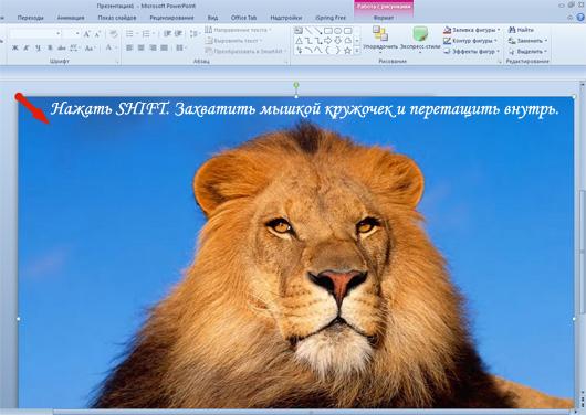 как сделать увеличение картинки при нажатии в powerpoint
