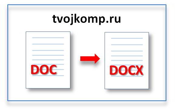 как из формата word сделать doc