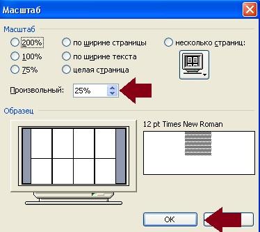 как сделать буквы во весь лист в word 2007