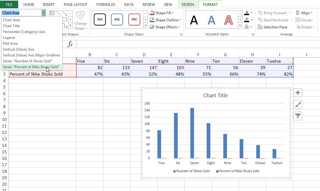как сделать диаграмму с тремя осями в excel