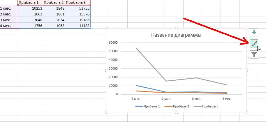 как сделать диаграмму в excel 2013