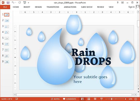 как сделать дождь в powerpoint