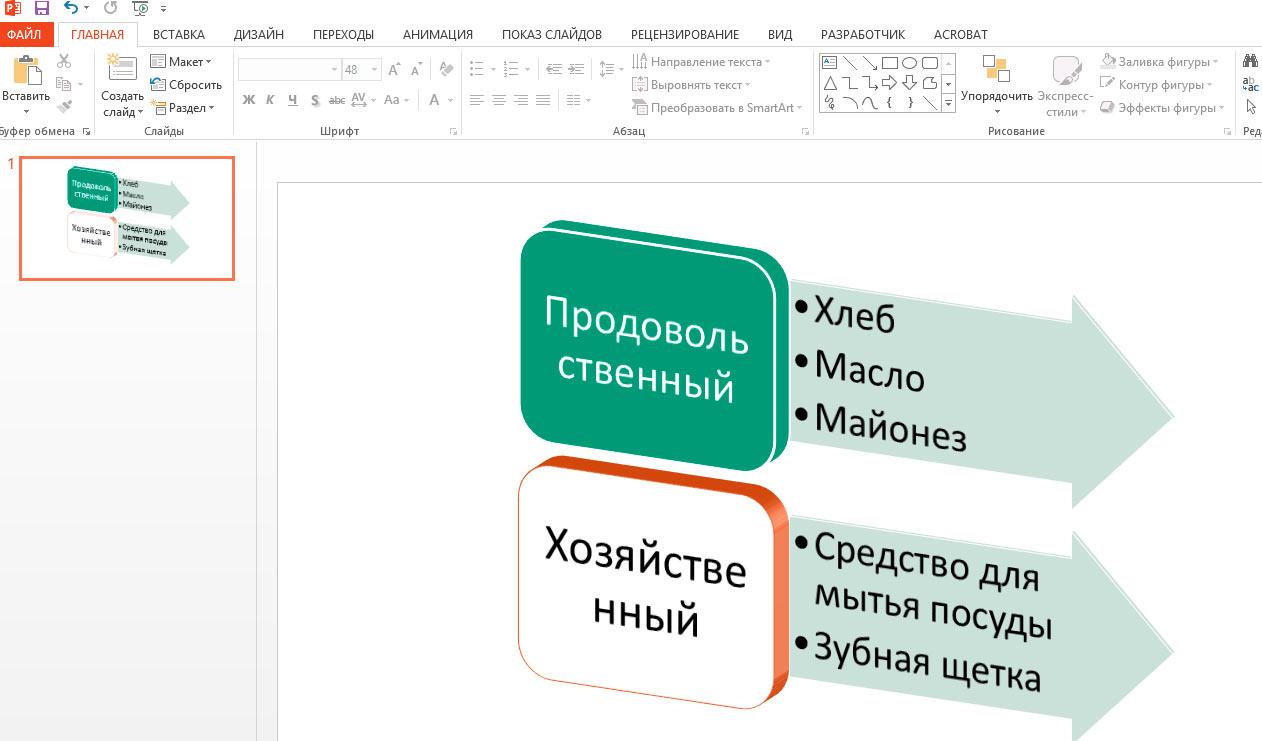 как сделать иерархию в powerpoint