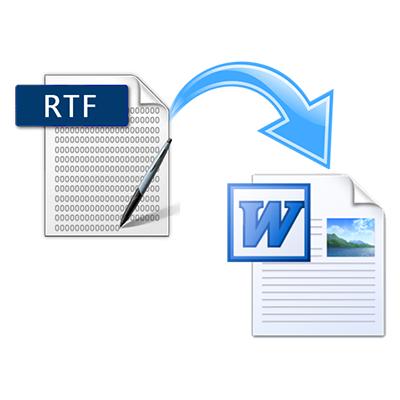 как сделать из word rtf