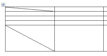 как сделать косую черту в таблице word