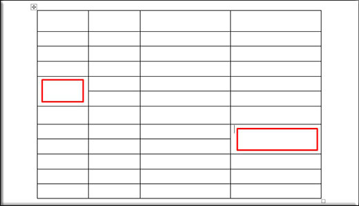 как сделать круглую таблицу в word