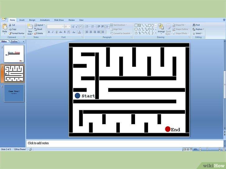 как сделать лабиринт в word