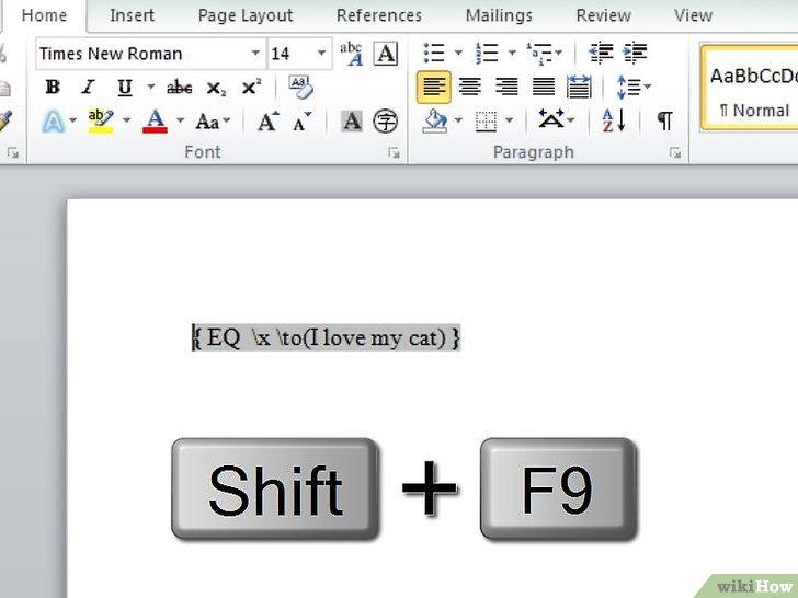 как сделать надстрочное подчеркивание в word