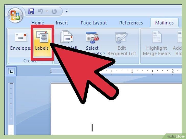 как сделать наклейки в word 2007