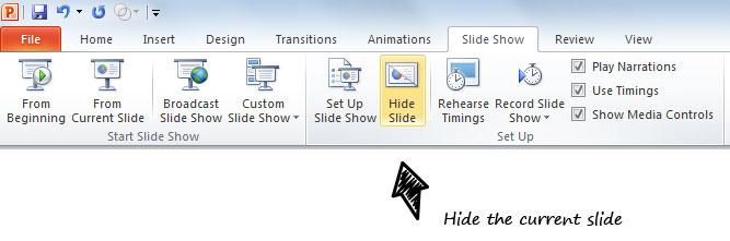 как сделать объект невидимым в powerpoint