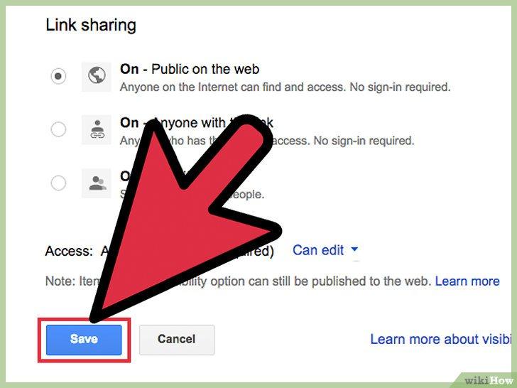 как сделать общий доступ к файлу excel на гугл диске