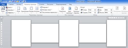 как сделать одну страницу в word