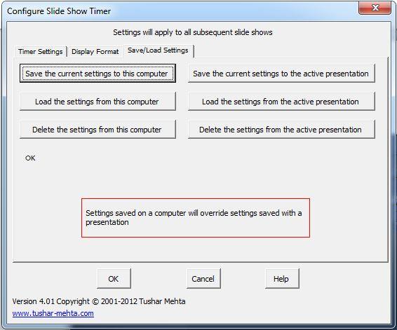 как сделать отсчет времени в powerpoint