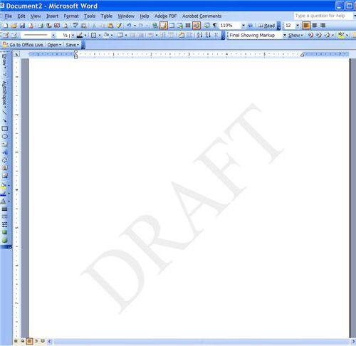 как сделать подложку в word 2007