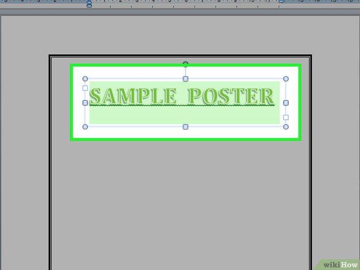 как сделать постер в word