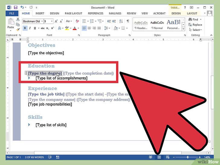 как сделать резюме в word 2010 скачать бесплатно
