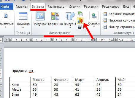 как сделать сетевой график в word