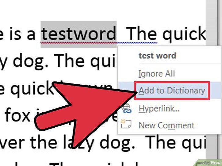 как сделать словарь в word