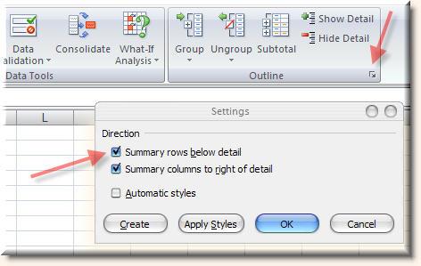 как сделать список с плюсиком в excel