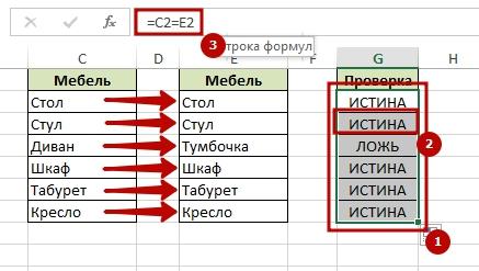 как сделать сравнительную таблицу в excel