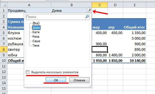 как сделать сводную таблицу в excel по менеджерам