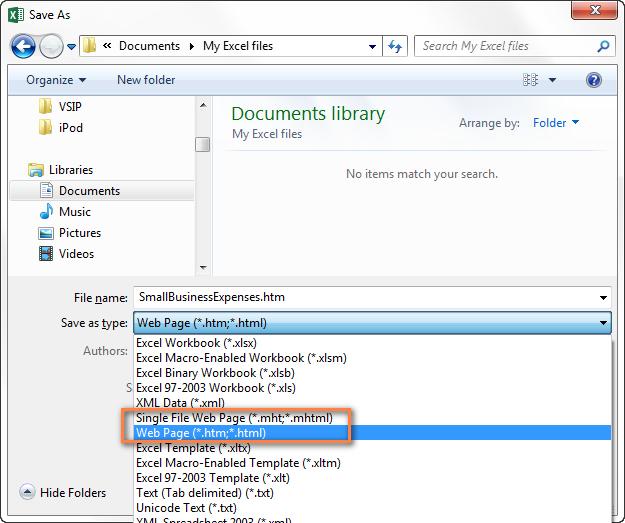 как сделать таблицу excel в html
