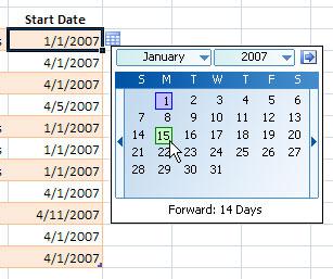 как сделать таблицу с датами в excel
