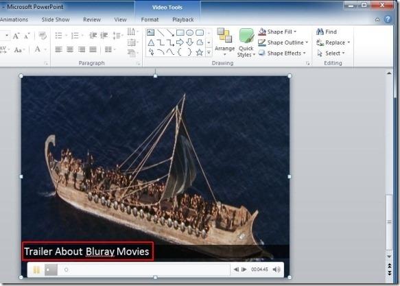 как сделать титры в powerpoint 2010