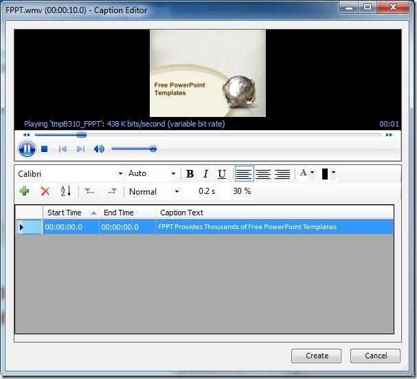 как сделать титры в презентации powerpoint 2007