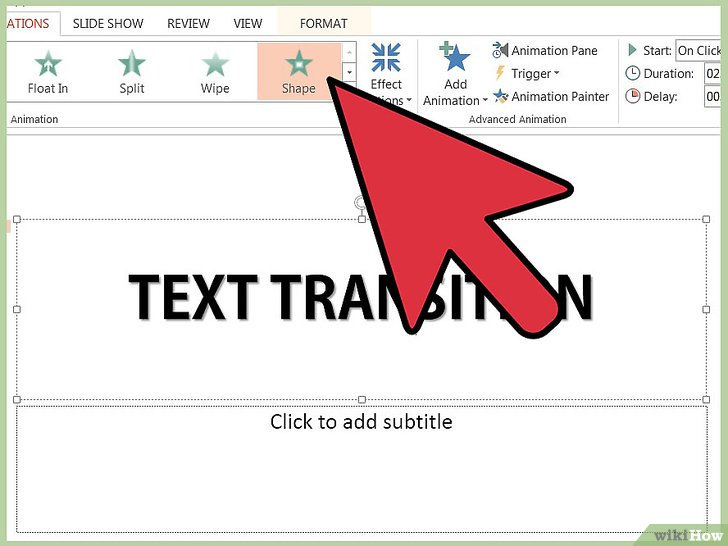 как сделать в microsoft powerpoint анимацию текста